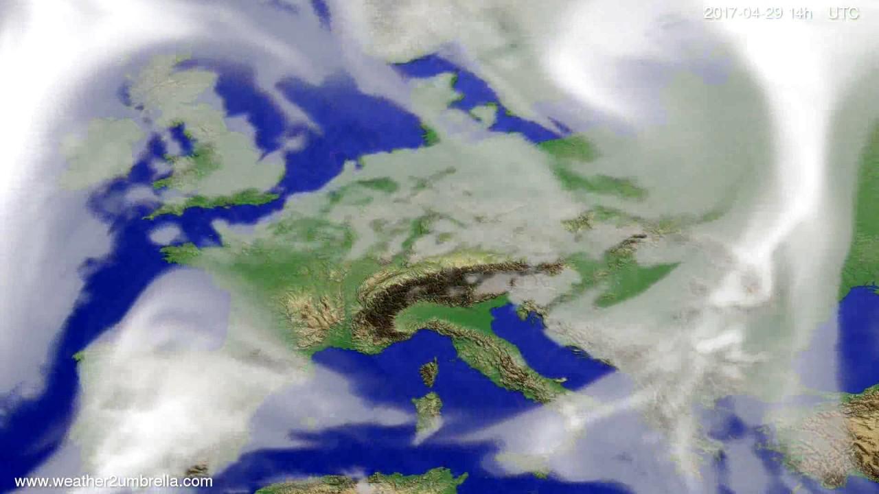 Cloud forecast Europe 2017-04-25
