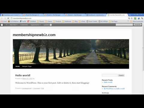 How to Install WordPress 3.0, 3.1, 3.2, or 3.3 Multisite