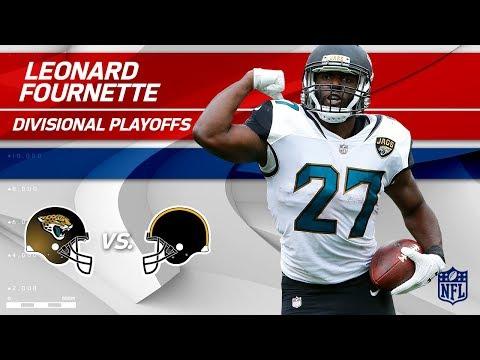 Video: Leonard Fournette's Triple TD Day vs. Pittsburgh!   Jaguars vs. Steelers   Divisional Player HLs