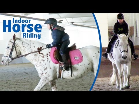 First Time Horse Riding in an Indoor Arena