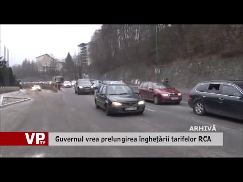 Guvernul vrea prelungirea înghețării tarifelor RCA