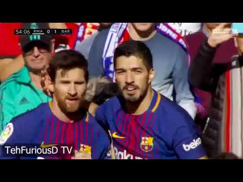 Real Madrid vs FC Barcelona 0-3 All Goals and EXT Highlights with English Commentary 2017-18