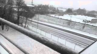Bernburg Germany  City pictures : snowfall in Bernburg Germany