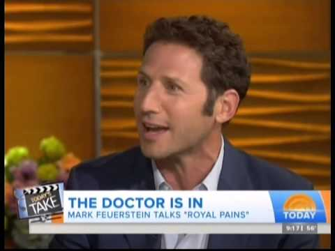"""Mark Feuerstein of """"Royal Pains"""" talks on a TV show"""