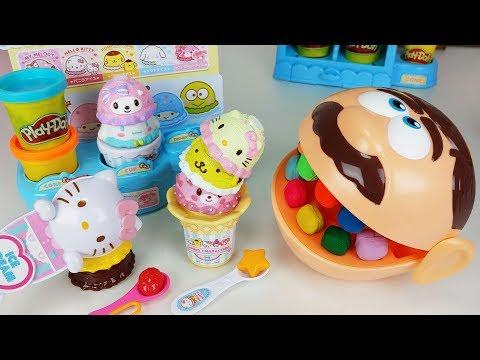 Play Doh Dentist Doctor Drill and Play doh kitty Ice Cream shop toys Baby doll play - ???_Fogorvosi rendelőben. Heti legjobbak