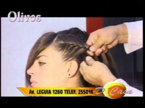 Peinado en trenzas para novia moda 2013 programa d casa tv norte