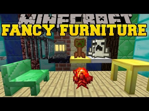 Minecraft: FANCY FURNITURE (TABLES, CHAIRS, CHIMNEYS, & COOL BLOCKS!) Mod Showcase