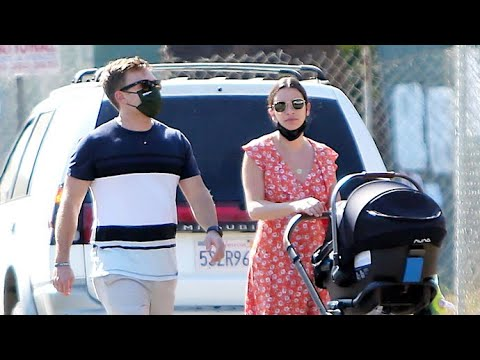 Lea Michele Is Adorable In Floral Dress For Stroll With Baby Ever And Hubby Zandy