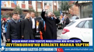 Başkan Murat Aydın'a Yeşiltepe Mahallesinde İlgi Büyüktü