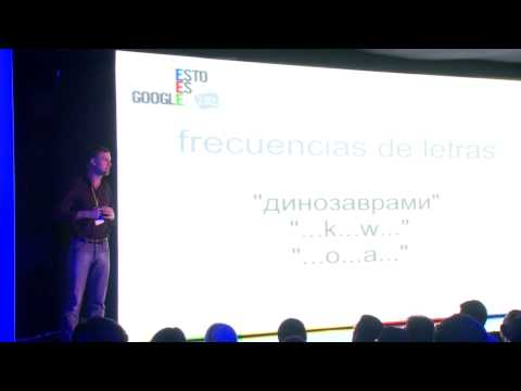 Presenting machine translation and Google Translate to developers in Mexico City in 2012