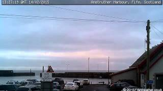 14 February 2015 - Anstruther WeatherCam Timelapse