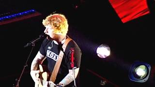 "Ed Sheeran performing ""Bloodstream"" live at The STAPLES Center in Los Angeles, California on August 11, 2017. ÷ Tour."