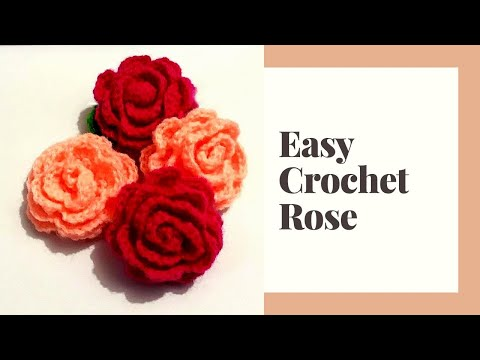 How to crochet a very easy and simple rose/flower