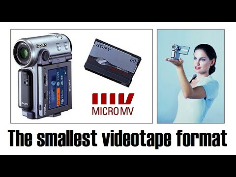 smallest - Sony's MicroMV fits an hour of digital video onto a tape slightly smaller than an audio microcassette, and was a marketplace failure. I demonstrate two Handy...