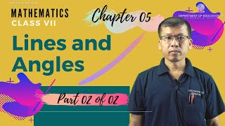 Class VII Mathematics Chapter 5 : Lines & Angles (Part 2 of 2)