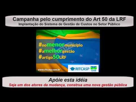 Campanha RITCASP Artigo 50 LRF Hudson Tourinho CRC RN Jovem