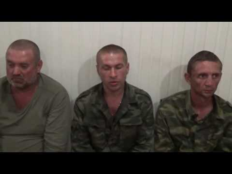 №1 Допрос пленных ополченцев, захваченных после обстрела возле Широкино 27,06 (видео)
