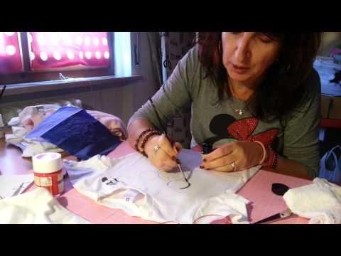 Piccolo tutorial di pittura su stoffa...