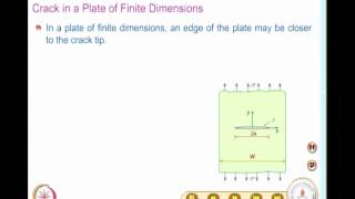Mod-06 Lec-25 Evaluation Of SIF For Various Geometries