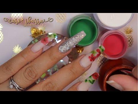 Decoracion de uñas - Uñas MEXICANAS en BLANCO OPAL Con FLORES SECA + Como Usar DECORACIÓN que DESPINTA?