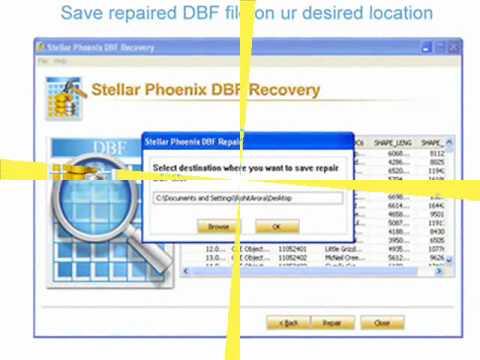 how to repair dbf