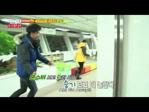 Running Man ep 228 CUT - Lee Seung Gi made Jihyo scared - FUNNY