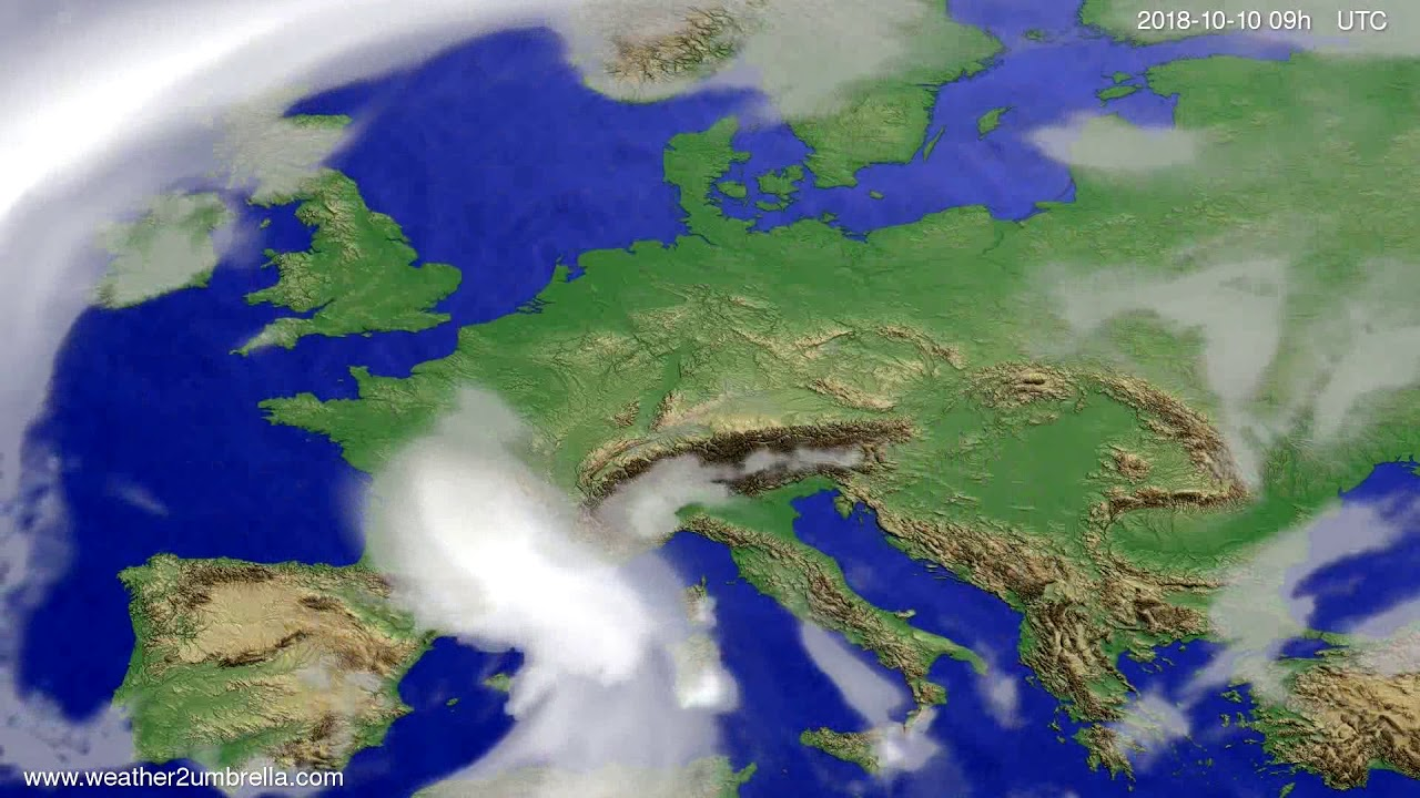 Cloud forecast Europe 2018-10-06