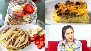 3 QUICK, EASY&YUMMY BREAKFAST IDEAS!