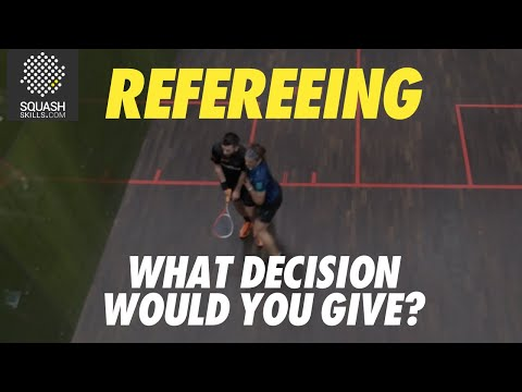 Squash Refereeing: Paul Coll v Daryl Selby - Stroke