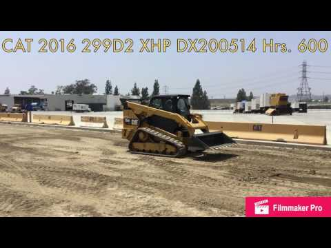 CATERPILLAR MINICARGADORAS 299D2 XHP equipment video fnHkFrYoSac