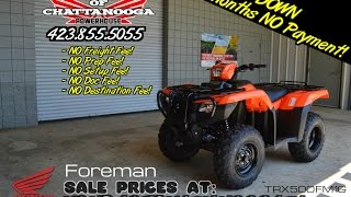 8. 2016 Honda Foreman 500 Manual + EPS ATV Review of Specs - Chattanooga TN PowerSports Dealer