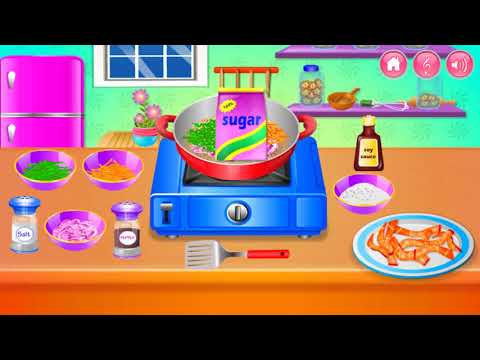 Fun Cooking Games For Kids - Play Cooking In The Kitchen - Stir Fried Beef With Vegetables