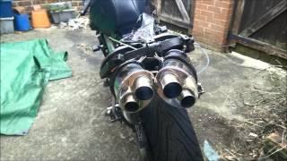 9. Aprilia Futura with H pipe and Blue Flame Silencers
