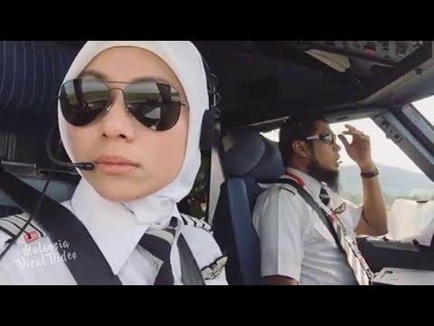 Inilah rupa pilot AirAsia yang berpantun tu tp cantik pulak pilot perempuan ni