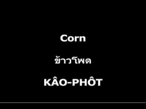Vegetables – Learn Thai – Langhub.com