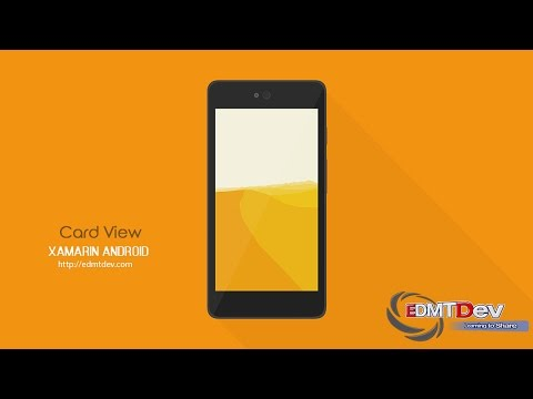Xamarin Android Tutorial – Card View