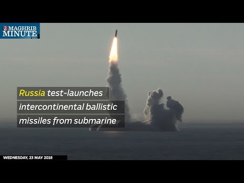 Russia test-launches intercontinental ballistic missiles from submarine