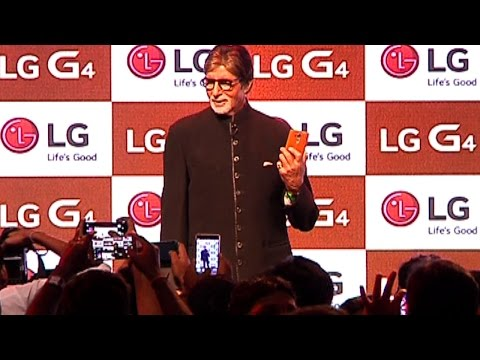 Amitabh Bachchan Launches LG G4 Mobile