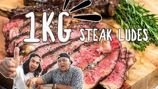Video 1 KG STEAK MENTAH & MATANG LUDES !! #GEBRAKDAPUR MP3, 3GP, MP4, WEBM, AVI, FLV Maret 2019