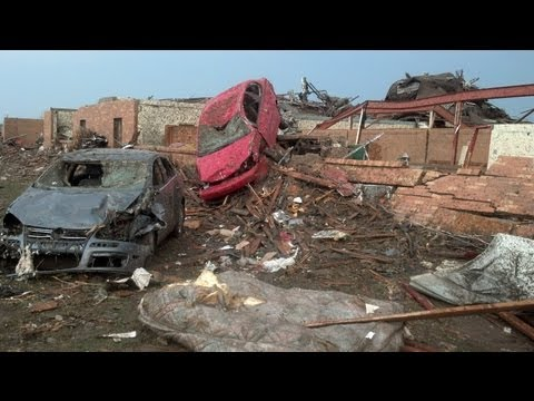 Video reveals extent of tornado's damage to vehicles in Moore, Oklahoma