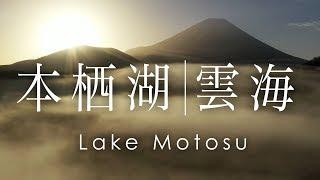 空撮 本栖湖の雲海 | Sea of fog above Lake Motosu