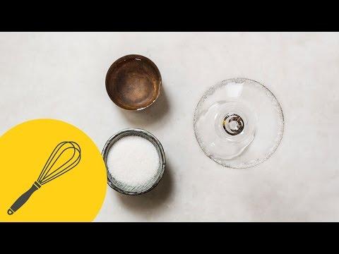 Zuckerrand am Glas selber machen   Das perfekte Cocktailglas   Küchentipp   How To