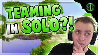 TEAMING IN SOLO AGAINST A HACKER! ( Hypixel Skywars FUNNY MOMENTS )