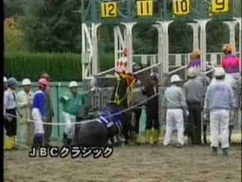 「[競馬]緑の服着た発走係がプロレスラー並みのストンピングを競走馬に入れている件」のイメージ