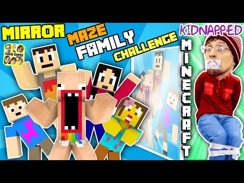 KIDNAPPED in MINECRAFT!! FGTEEV MIRROR MAZE Family Challenge! Save DUDDY Mini-Game (Gameplay / Skit) (видео)
