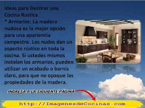 Cocinas peque private 4rum for Torres en la cocina youtube