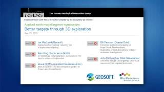 TGDG Earth Modelling Symposium: Better Targeting Using 3D Exploration - Introduction