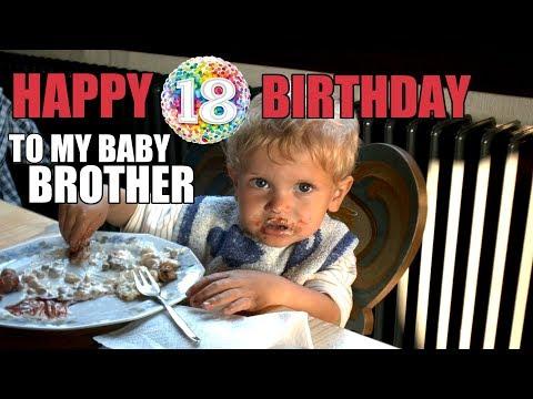 Funny birthday wishes - Überraschungsvideo  HAPPY 18. BIRTHDAY TO MY BABY BROTHER