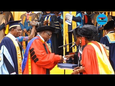 Alban Bagbin receives honorary Doctorate Degree from UPSA