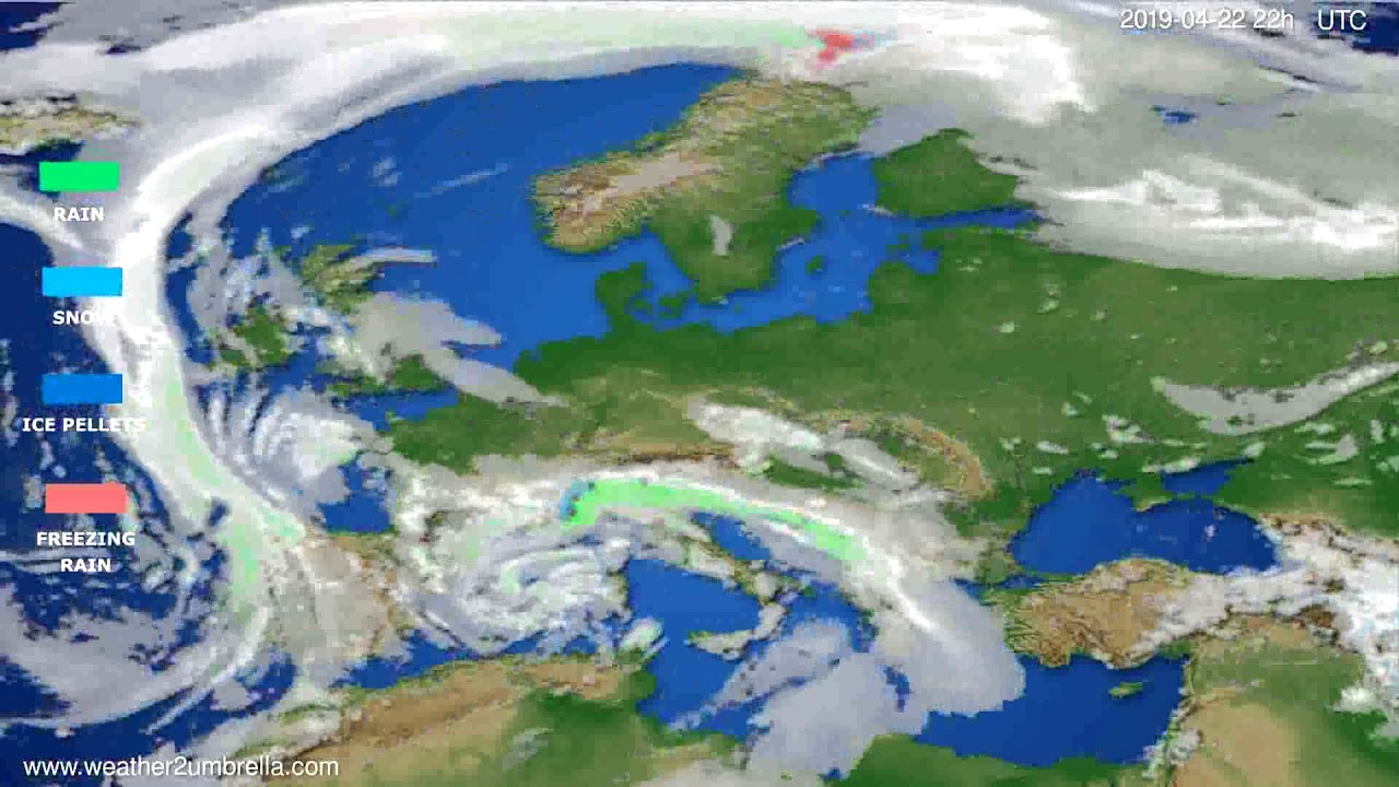 Precipitation forecast Europe // modelrun: 12h UTC 2019-04-20